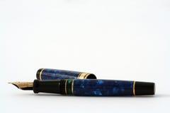 guld- penna för springbrunn Royaltyfri Foto