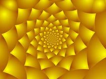 guld- petals för blomma Arkivbild