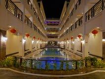 Guld- Phoenix hotell i den Boracay ön, Filippinerna Royaltyfri Bild