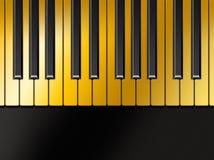 guld- piano Royaltyfri Foto