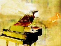 guld- piano Arkivbild