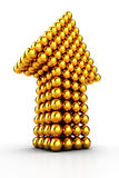 guld- pil Royaltyfri Fotografi