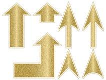 Guld- pilar med strömkretsen Royaltyfria Foton