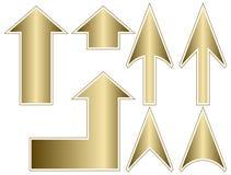 Guld- pilar med strömkretsen Arkivbilder