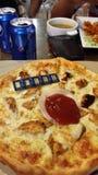Guld- pizza Royaltyfria Bilder