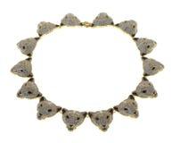 Guld pläterad halsband på en vit bakgrund Royaltyfri Foto