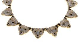 Guld pläterad halsband på en vit bakgrund Royaltyfria Bilder