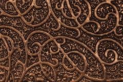 Guld pläterad metallisk texturerad bakgrund med modeller Arkivfoto