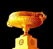 guld- platta royaltyfria bilder