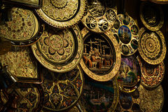 Guld- plattor Istanbul Arkivfoto