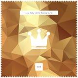 Guld- polygonal bakgrund för abstrakt vektor Royaltyfri Bild