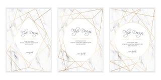 Guld- polygonal ram EPS10 vektor illustrationer