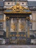 Guld- port av slotten av rättvisa i citeraön i Paris, Fr Arkivbilder