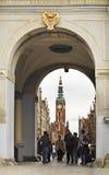 Guld- port i Gdansk poland Fotografering för Bildbyråer