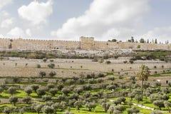 Guld- port till den gamla Jerusalem staden Arkivbild