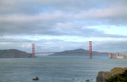 Guld- portbro i San Francisco Bay Royaltyfria Foton