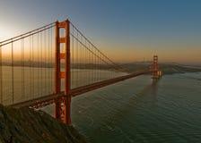 Guld- portbro, San Francisco Royaltyfri Foto