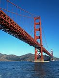 Guld- portbro, San Francisco, USA. Royaltyfri Foto