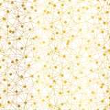 Guld- prickar knyter kontakt den sömlösa modellen för vektorn vektor illustrationer
