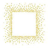 Guld- prickfyrkant Royaltyfri Bild
