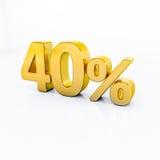 Guld- procenttecken Arkivfoto