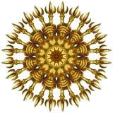 Guld- prydnad Royaltyfria Bilder