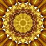 Guld- prydnad Arkivfoton