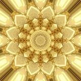 Guld- prydnad Arkivbild