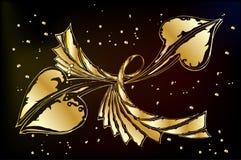 guld- prydnad för bakgrund Royaltyfria Foton