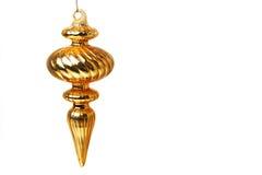guld- prydnad för jul Royaltyfria Bilder