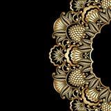 Guld- prydnad för vektor. Royaltyfria Bilder