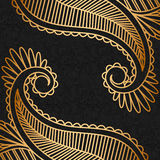 Guld- prydnad för vektor. Arkivfoto