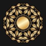 Guld- prydnad för vektor. Royaltyfri Foto