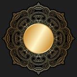 Guld- prydnad för vektor. Arkivfoton