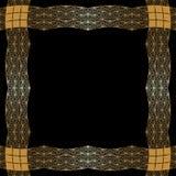 Guld- prydnad för vektor. Royaltyfri Fotografi