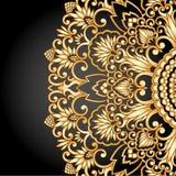 Guld- prydnad för vektor. Royaltyfri Bild