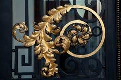 Guld- prydnad på den kroatiska parlamentdörren Royaltyfri Bild