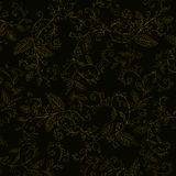 Guld- prydnad på en svart bakgrund Royaltyfri Fotografi