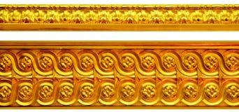 guld- prydnadar Royaltyfri Fotografi
