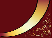 guld- prydnadband för bakgrund Royaltyfria Foton