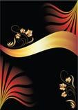 guld- prydnadband för bakgrund stock illustrationer