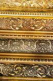 Guld- prydnadtextur Royaltyfria Foton