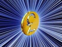 guld- pundsymbol stock illustrationer