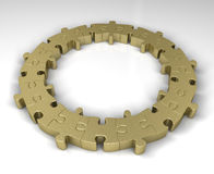 Guld- pusselcirkel Arkivfoto