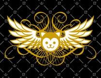 guld- pussy royaltyfri illustrationer