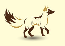 guld- räv vektor illustrationer