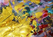 Guld- röd abstrakt färgrik bakgrund, guld- textur Arkivbilder