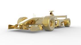 Guld- racebil Royaltyfri Fotografi
