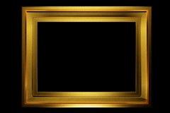 Guld- ram åldras textur Arkivfoton