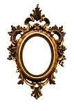 guld- ram 12 inget gammalt ovalt retro Royaltyfria Foton